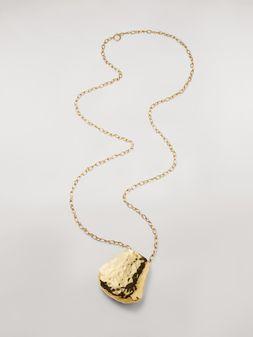 Marni Halskette FACE mit breiter Messingkette Damen