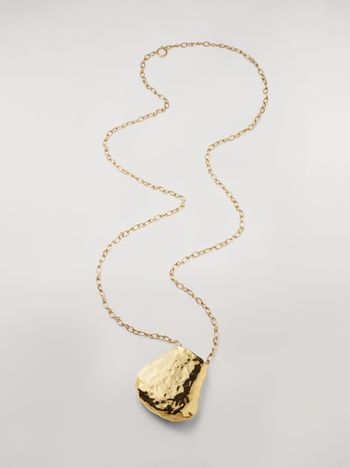 Marni Wide chain brass FACE necklace Woman