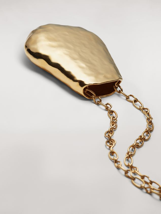 Marni Wide chain brass FACE necklace Woman - 4