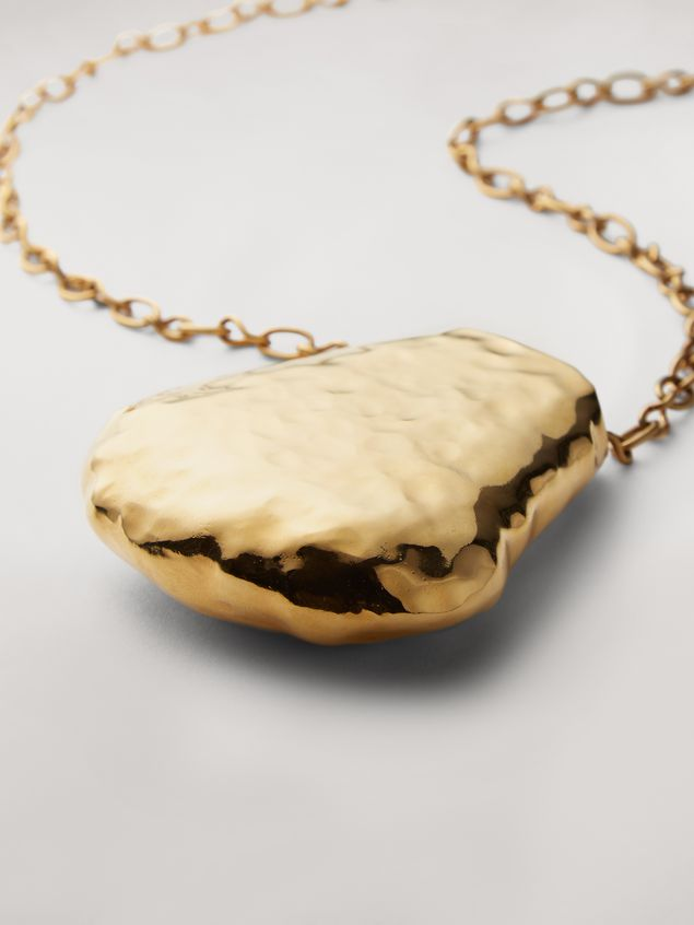 Marni Wide chain brass FACE necklace Woman - 3