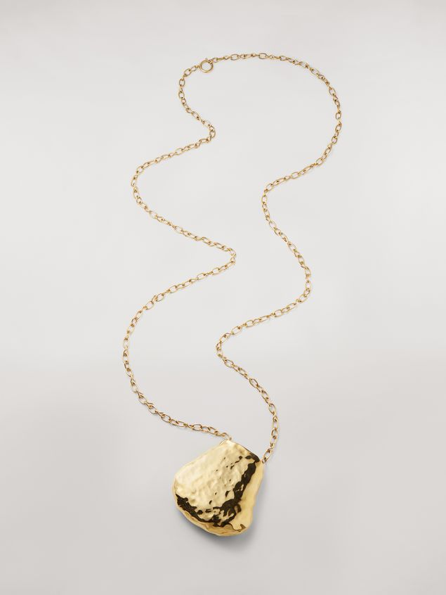 Marni Wide chain brass FACE necklace Woman - 1