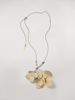 Marni Halskette FLORA mit Strasssteinen und Stoff  Damen