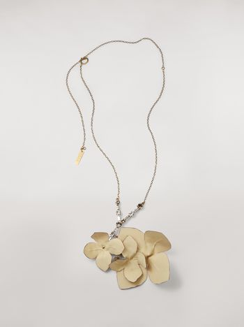 Marni FLORA necklace in strass and fabric  Woman f