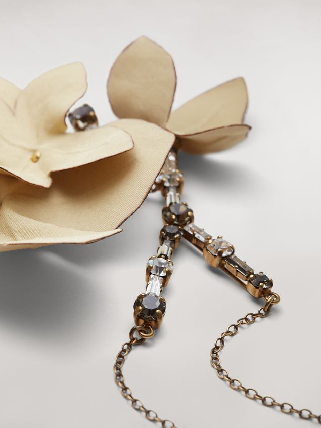 Marni FLORA necklace in strass and fabric  Woman - 4