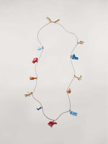 Marni TOYS necklace in metal with various pendants Woman