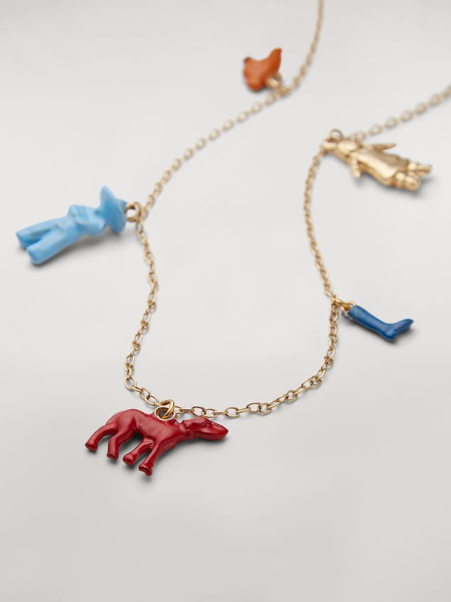 Marni TOYS necklace in metal with various pendants Woman - 3