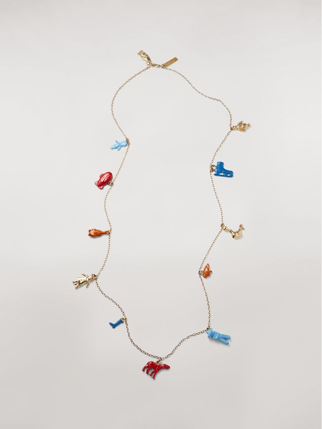Marni TOYS necklace in metal with various pendants Woman - 1