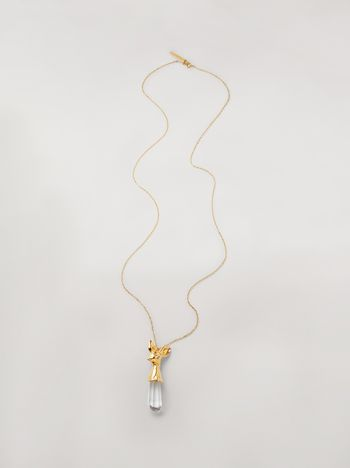 Marni Transparent STONES necklace in metal and stone Woman