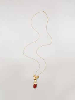Marni Red STONES necklace in metal and stone Woman