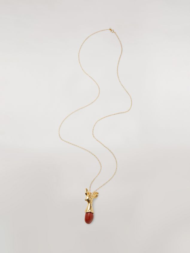 Marni Red STONES necklace in metal and stone Woman - 1