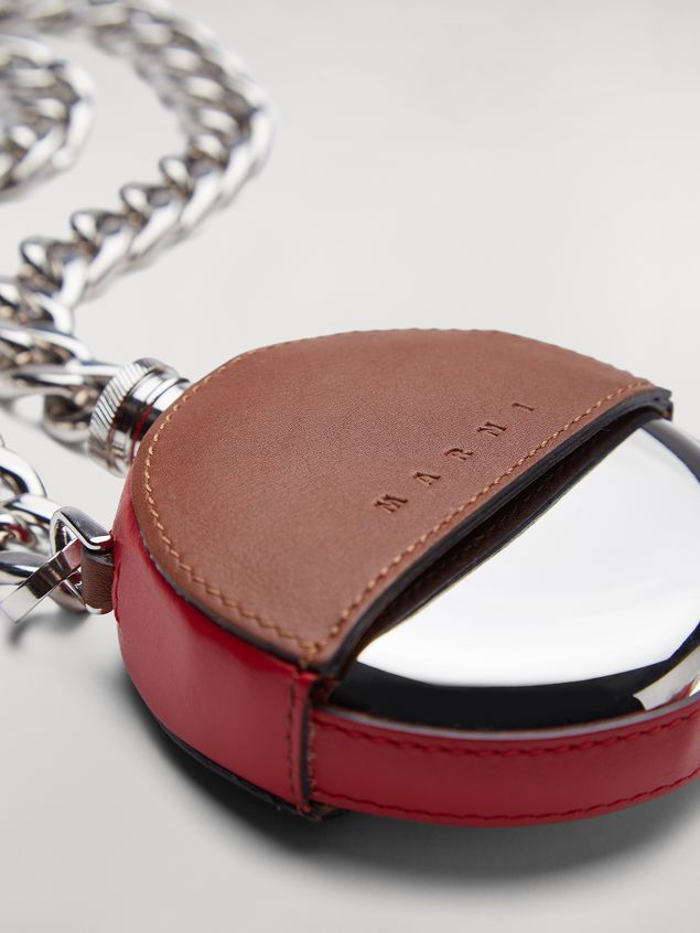 Marni MONSTER necklace in metal and leather with chain Man - 4