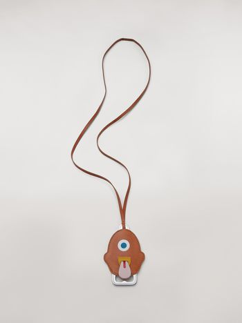 Marni MONSTER necklace in metal and leather with bottle-opener Man