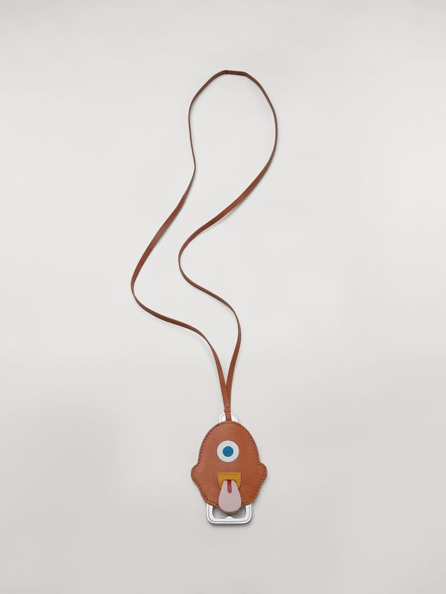Marni MONSTER necklace in metal and leather with bottle-opener Man - 1