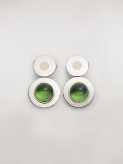 Marni MOD metal and resin screw earrings Woman