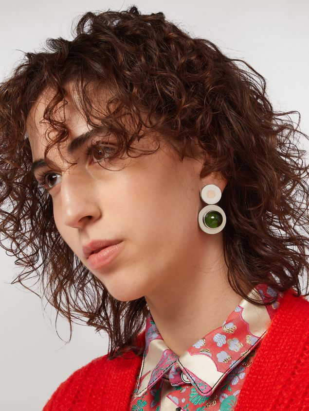 Marni MOD metal and resin screw earrings Woman - 2