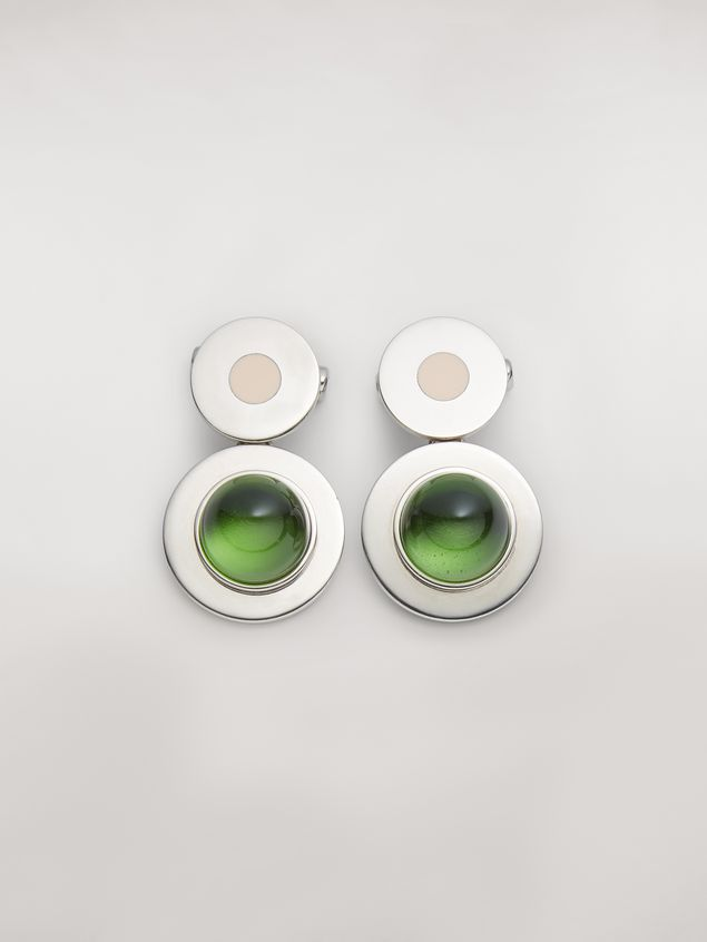 Marni MOD metal and resin screw earrings Woman - 1