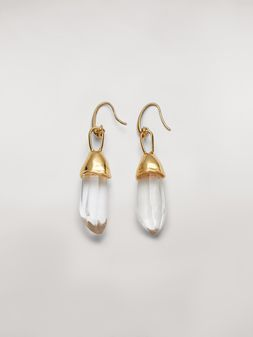 Marni Transparent STONES hook earrings in metal and stone Woman