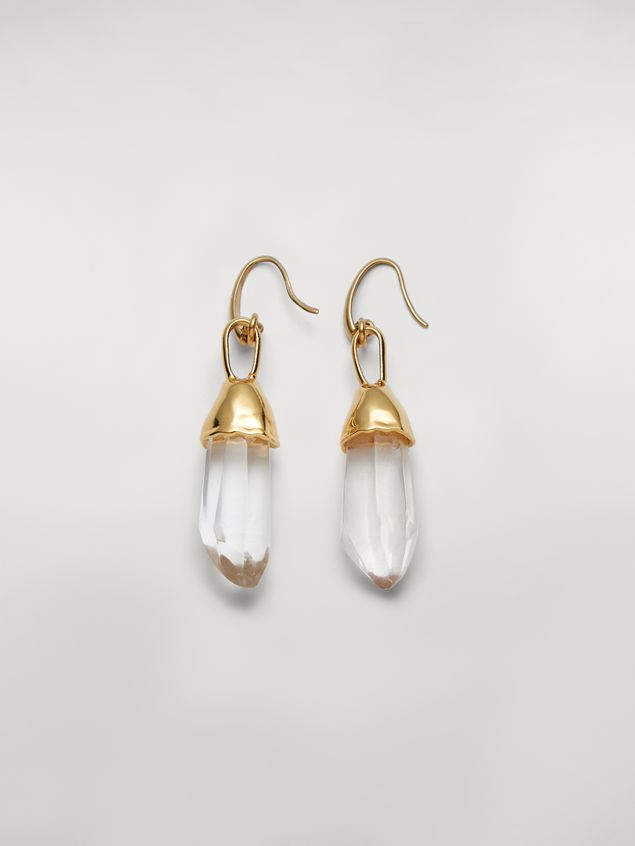 Marni Transparent STONES hook earrings in metal and stone Woman - 1