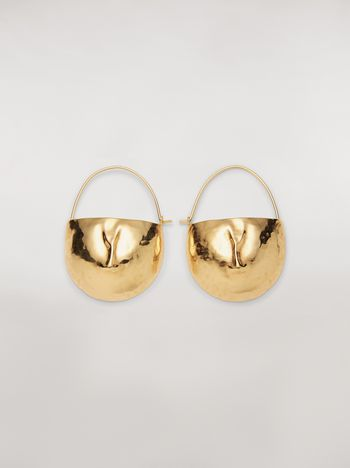 Marni FACE hook earrings in brass  Woman