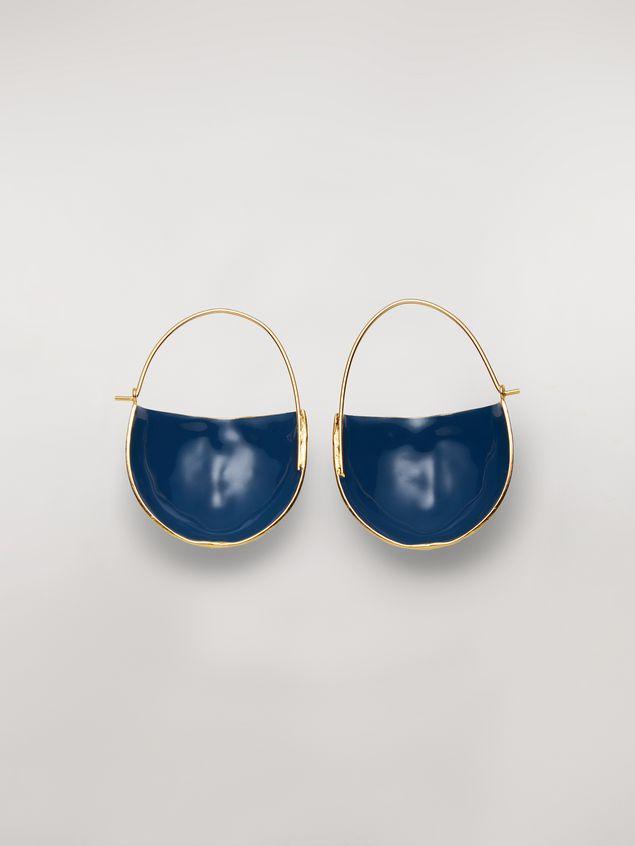 Marni FACE hook earrings in brass  Woman