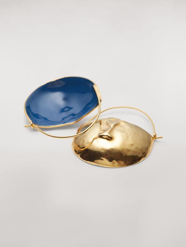 Marni FACE hook earrings in brass  Woman - 4