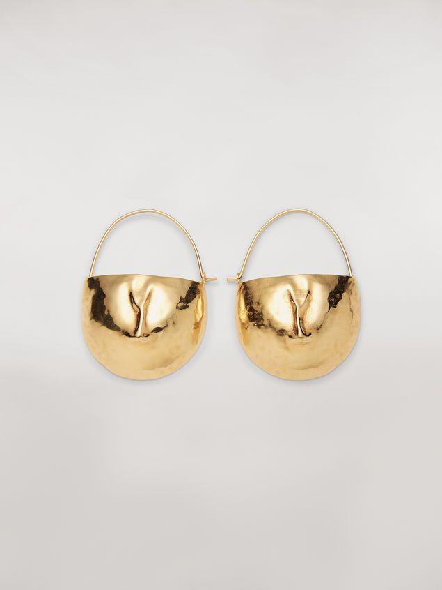 Marni FACE hook earrings in brass  Woman - 1