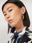 Marni FACE hook earrings in brass  Woman - 2