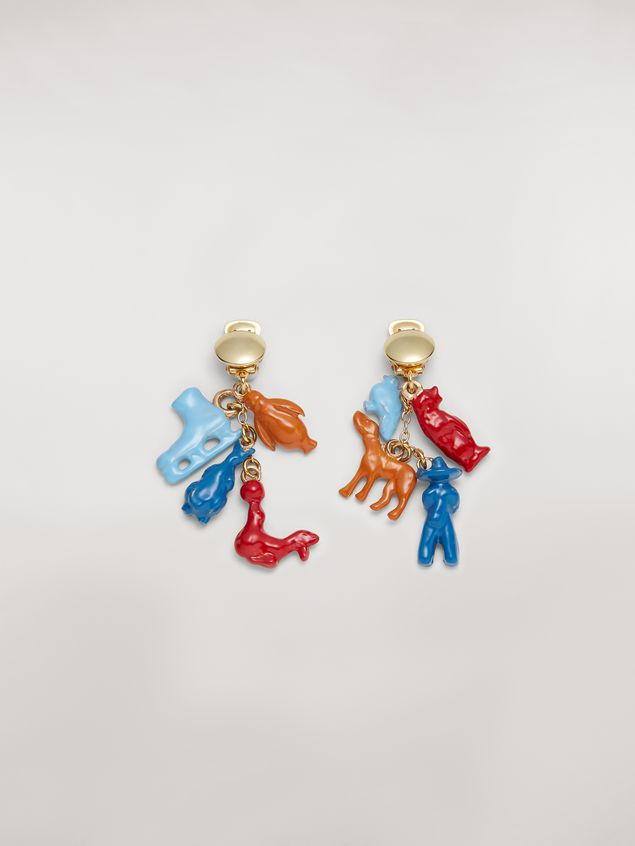 Marni TOYS metal clip earrings  Woman - 1