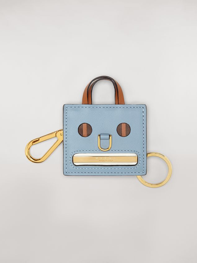 Marni Light blue EMOJI pendant in leather and metal Woman - 1