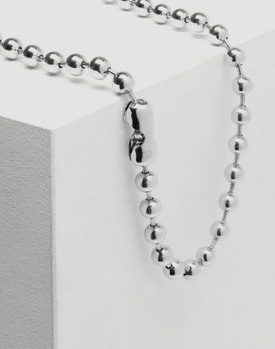 JEWELLERY Dual-wear ball chain necklace Silver