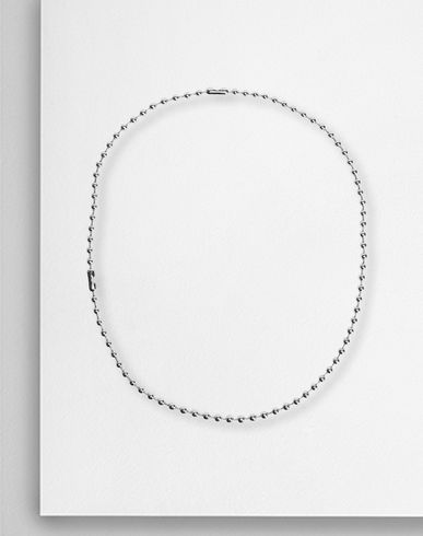 Dual-wear ball chain necklace