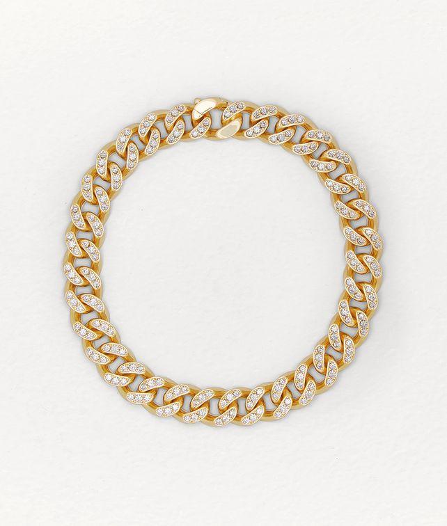 BOTTEGA VENETA NECKLACE IN ZIRCONIA AND STERLING SILVER Necklace Woman fp