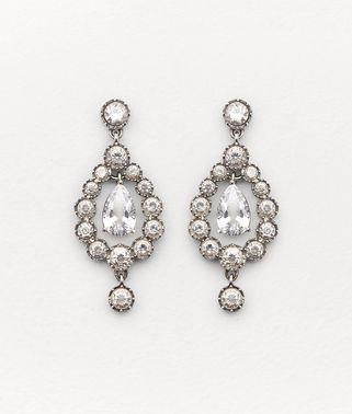 方晶锆石和纯银耳环
