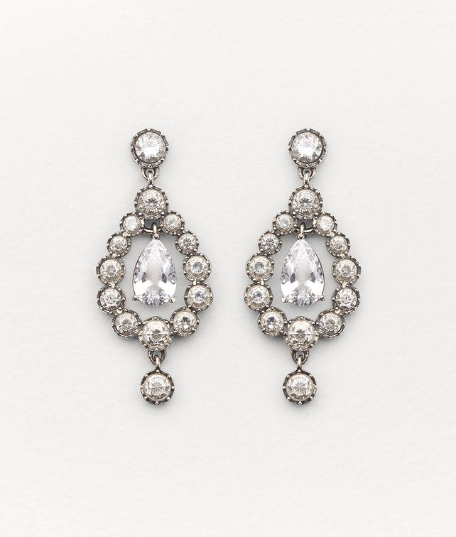 BOTTEGA VENETA EARRINGS IN ZIRCONIA AND STERLING SILVER Earrings [*** pickupInStoreShipping_info ***] fp