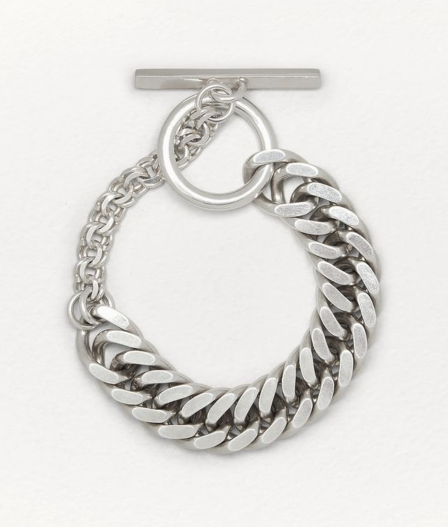 BOTTEGA VENETA BRACELET IN STERLING SILVER Bracelet Man fp