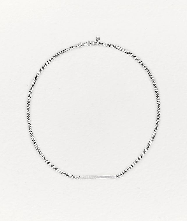 BOTTEGA VENETA NECKLACE IN STERLING SILVER Necklace Woman fp