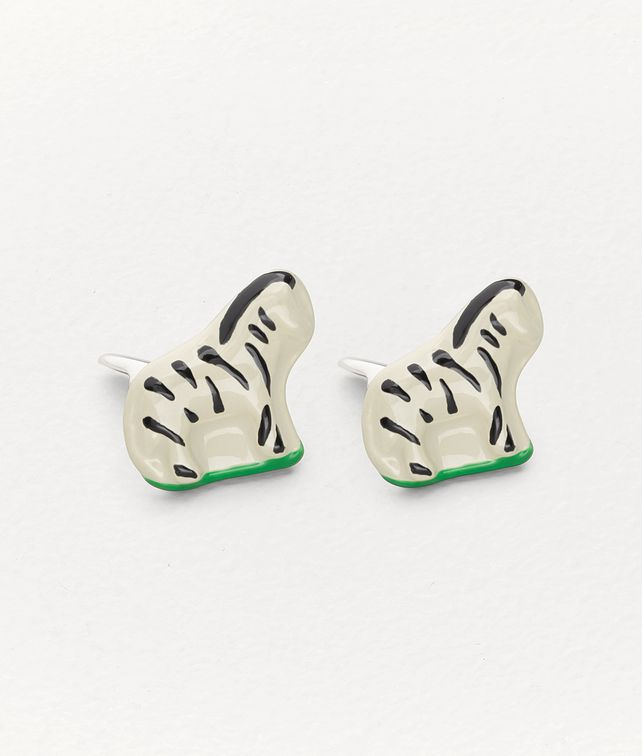 BOTTEGA VENETA CUFFLINKS IN STERLING SILVER AND ENAMEL Other Jewellery Man fp