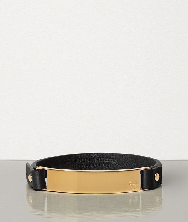BOTTEGA VENETA BRACELET IN STERLING SILVER AND NAPPA Bracelet E fp