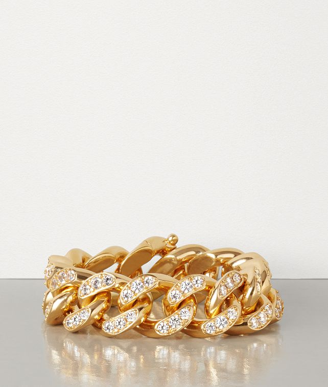 BOTTEGA VENETA BRACELET IN ZIRCONIA AND STERLING SILVER Bracelet Woman fp