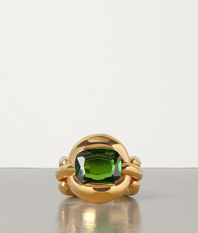 BOTTEGA VENETA RING IN ZIRCONIA AND STERLING SILVER Ring Woman fp