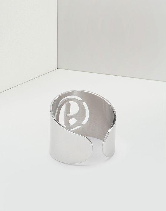 maison margiela anello con logo donna maison margiela store