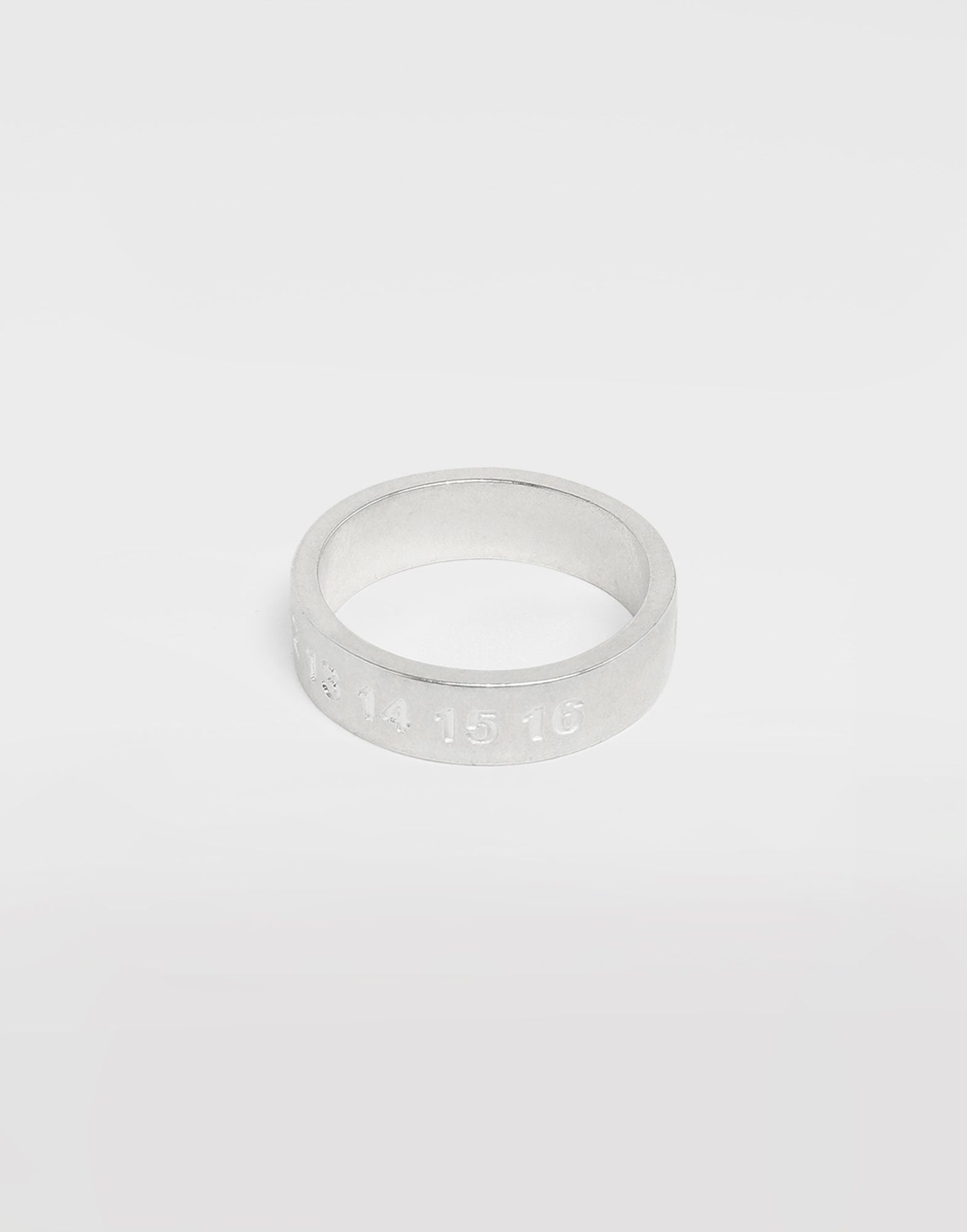 MAISON MARGIELA Silver 'Fragile' engraving ring Ring Man a