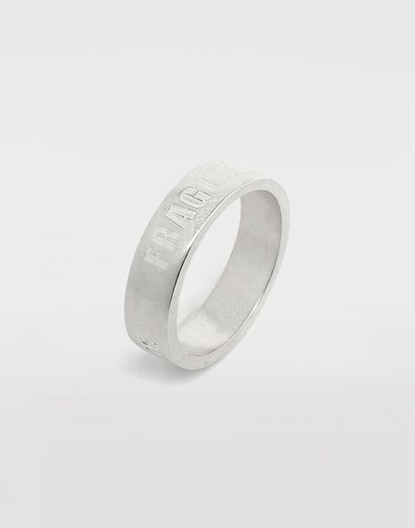MAISON MARGIELA Silver 'Fragile' engraving ring Ring Man d