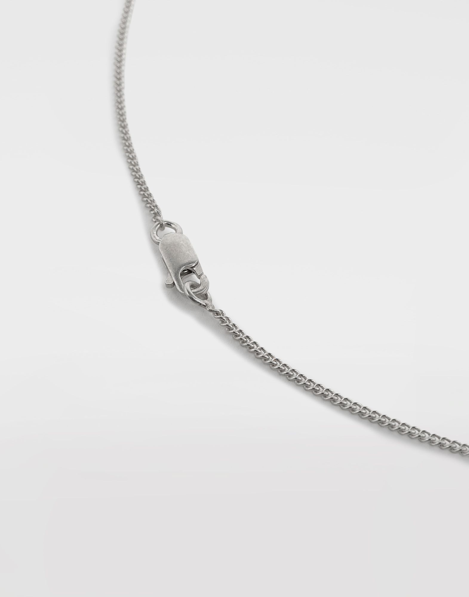 MAISON MARGIELA Silver 'Fragile' engraving necklace Necklace Man a