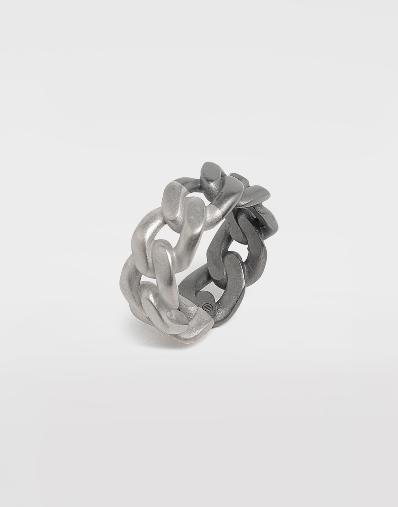 MAISON MARGIELA Silver curb chain ring Ring Man d