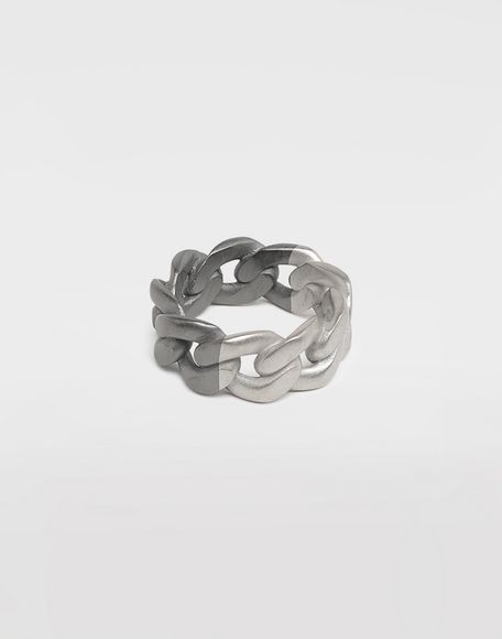 MAISON MARGIELA Silver curb chain ring Ring Man a