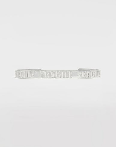 JEWELRY  Silver 'Fragile' engraving cuff Silver