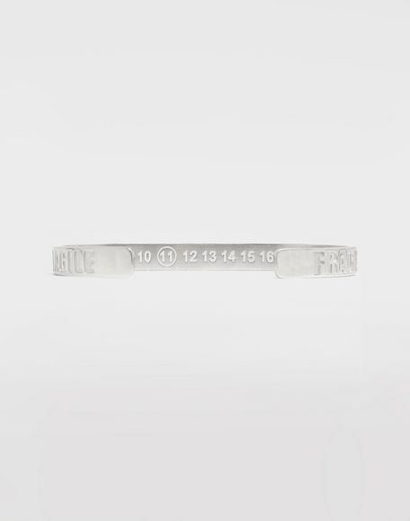 MAISON MARGIELA Silver 'Fragile' engraving cuff Bracelet Man d