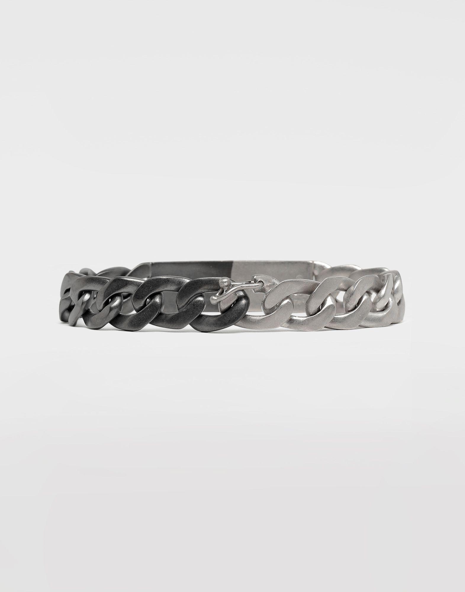 MAISON MARGIELA Silver curb chain bracelet Bracelet Man d