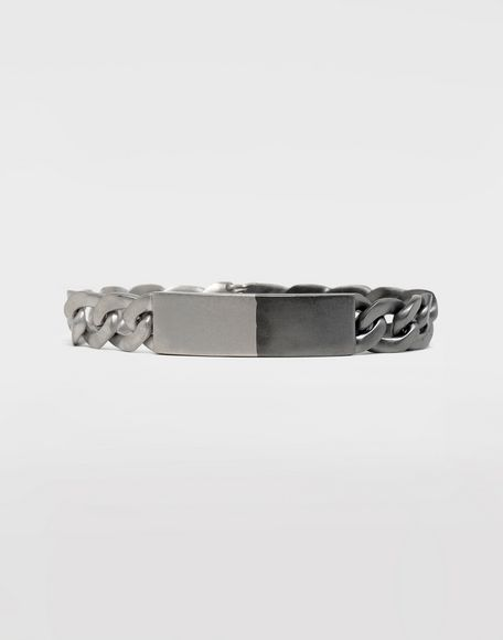 MAISON MARGIELA Silver curb chain bracelet Bracelet Man f